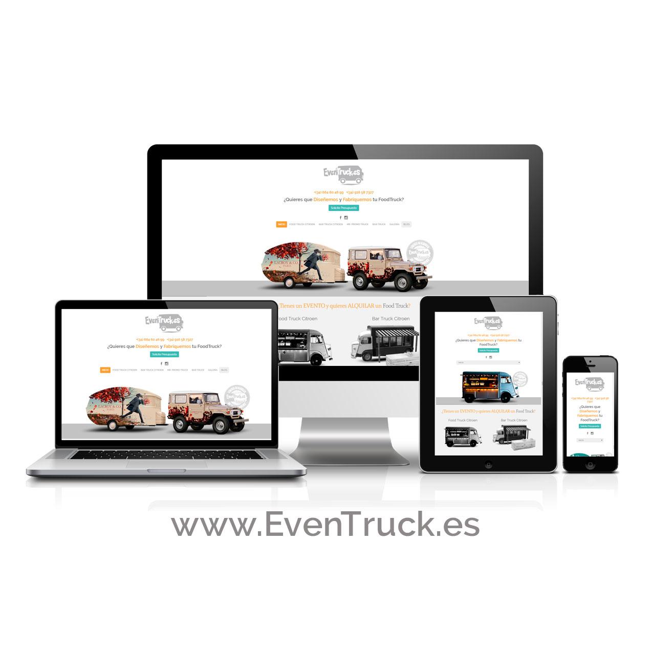 Diseño de Página Web EvenTruck.es