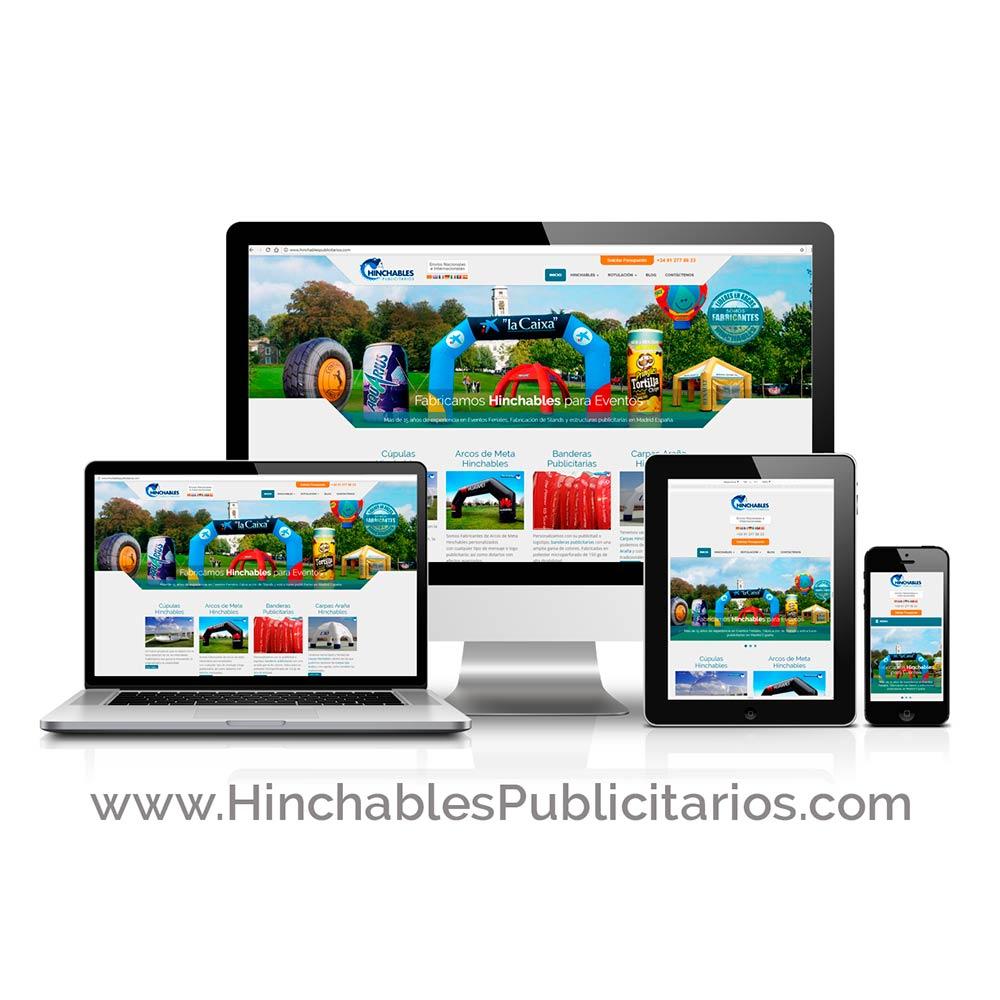 Diseño de Página Web Hinchables Publicitarios