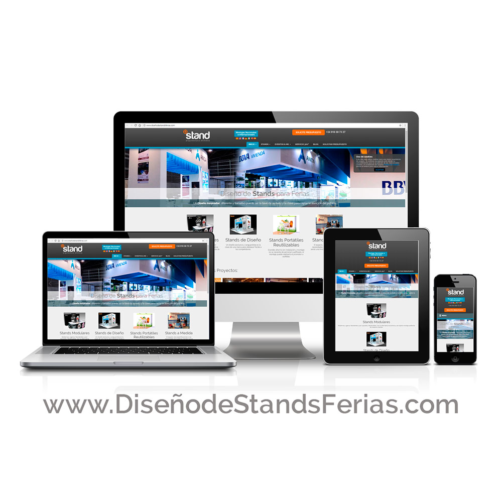 Diseño de Página Web WordPress Stands+