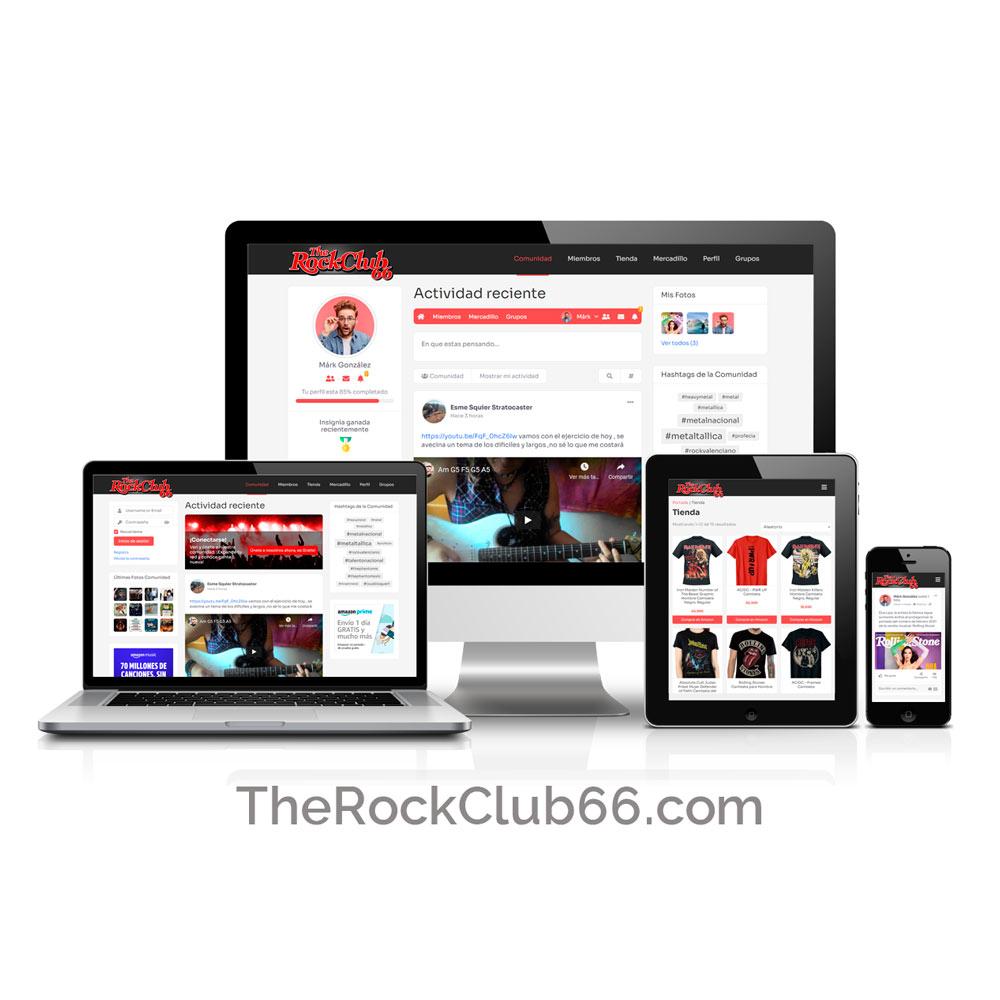 Diseño de Red Social TheRockClub66.com